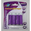 Piles 1,5 volts AA Lithium X4