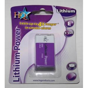 Piles 9 volts Lithium E