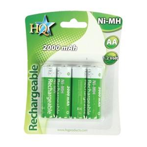 Accus NI-MH 1,2 volts 2000 mAh