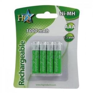 Accus AAA NI-MH 1,2 volts 1000 mAh