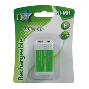 Accus NI-MH 9 volts 200 mAh