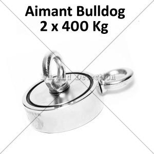 Aimant Bulldog 800 Kg (2x400kg)